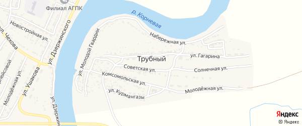 Улица Гагарина на карте Трубного поселка с номерами домов