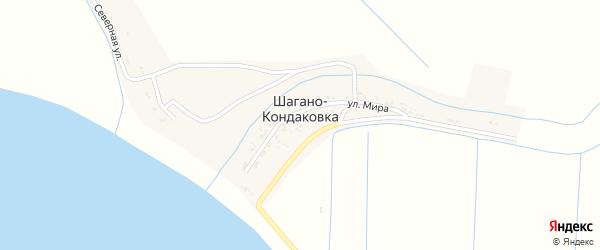 Улица Мира на карте села Шагано-кондаковки с номерами домов