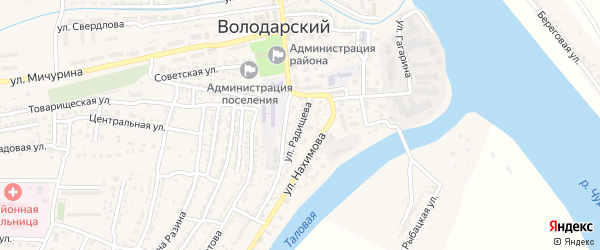 Улица Радищева на карте Володарского поселка с номерами домов