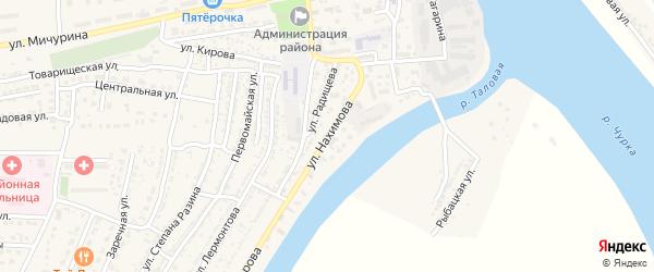 Улица Нахимова на карте Володарского поселка с номерами домов