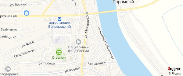 Переулок Рейснера на карте Володарского поселка с номерами домов