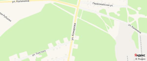 Улица Комарова на карте поселка Урдома с номерами домов
