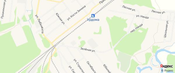 СТ Вычегда на карте поселка Урдома с номерами домов