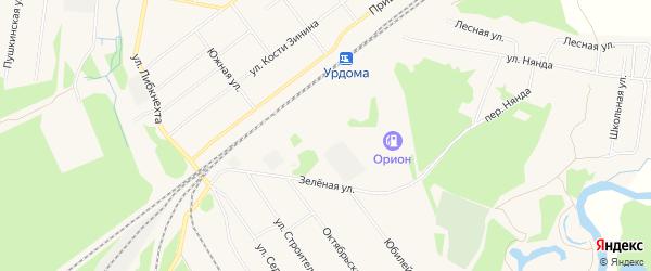 СТ Паламыш на карте поселка Урдома с номерами домов