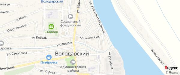 Кольцевая улица на карте Володарского поселка с номерами домов