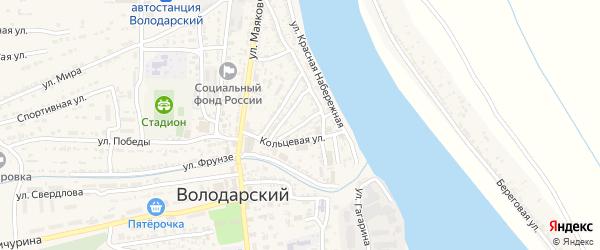 Улица Достоевского на карте Володарского поселка с номерами домов