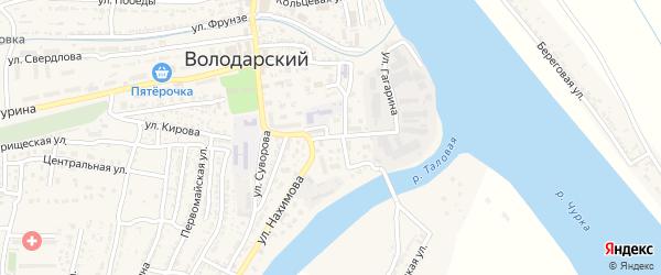 Улица Володарского на карте Володарского поселка с номерами домов