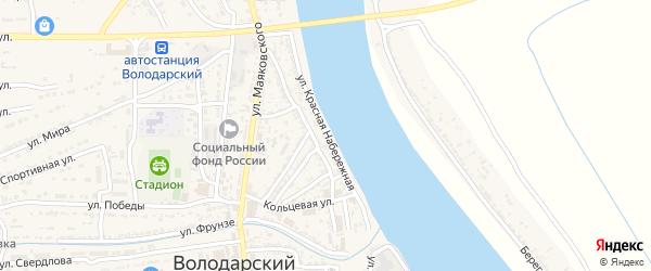 Красная Набережная улица на карте Володарского поселка с номерами домов