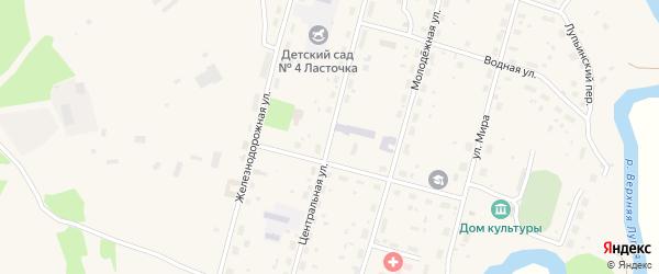 Центральная улица на карте поселка Урдома с номерами домов