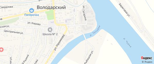 Улица Пушкина на карте Володарского поселка с номерами домов