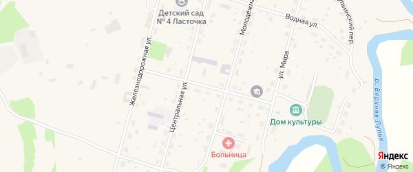 Улица Ленина на карте поселка Урдома с номерами домов
