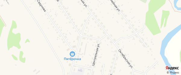 Советский переулок на карте поселка Урдома с номерами домов
