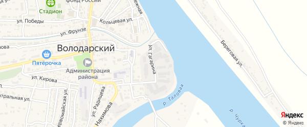 Улица Гагарина на карте Володарского поселка с номерами домов