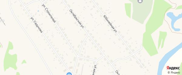Октябрьская улица на карте поселка Урдома с номерами домов
