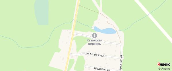 Покровская улица на карте поселка Урдома с номерами домов