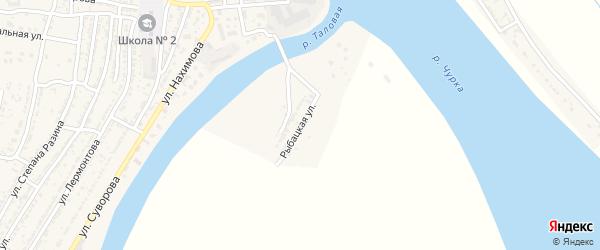 Рыбацкая улица на карте Володарского поселка с номерами домов