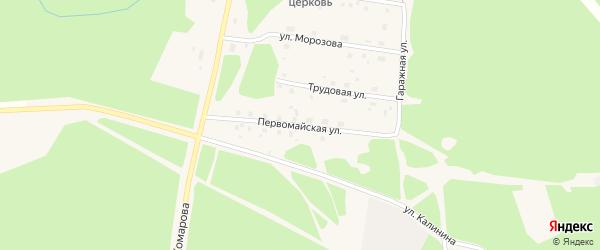 Первомайская улица на карте поселка Урдома с номерами домов