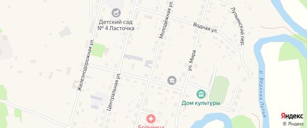 Молодежная улица на карте поселка Урдома с номерами домов