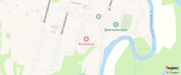 Молодежный переулок на карте поселка Урдома с номерами домов
