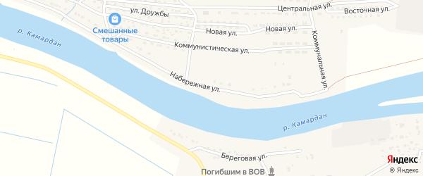 Набережная улица на карте села Новинки с номерами домов