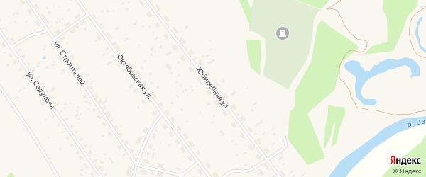 Юбилейная улица на карте поселка Урдома с номерами домов
