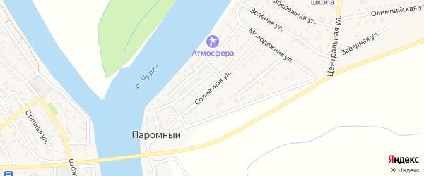 Солнечная улица на карте Паромного поселка с номерами домов