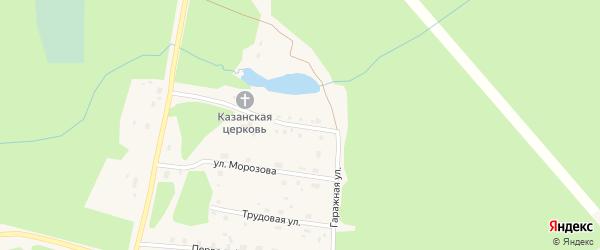 Улица 8 марта на карте поселка Урдома с номерами домов