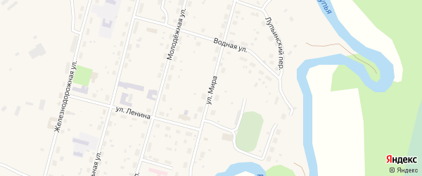 Улица Мира на карте поселка Урдома с номерами домов
