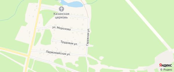 Гаражная улица на карте поселка Урдома с номерами домов