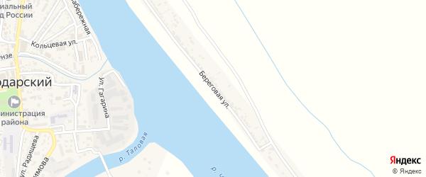 Береговая улица на карте Паромного поселка с номерами домов