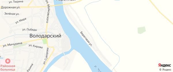 Карта Паромного поселка в Астраханской области с улицами и номерами домов