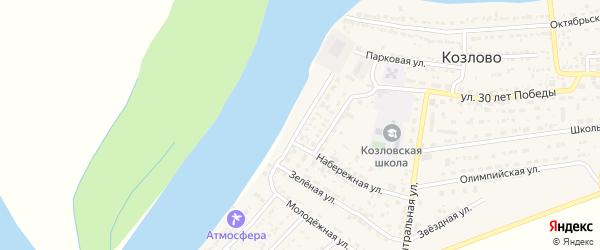 Набережная улица на карте села Козлово с номерами домов