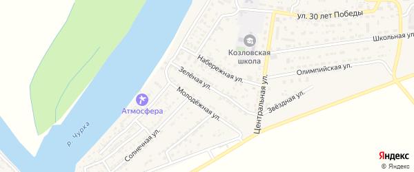 Молодежная улица на карте села Козлово с номерами домов