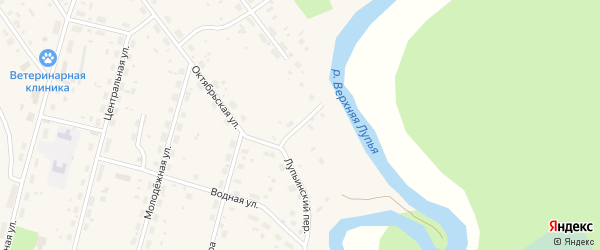 Лупьинский переулок на карте поселка Урдома с номерами домов