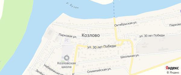 Звездная улица на карте села Козлово с номерами домов