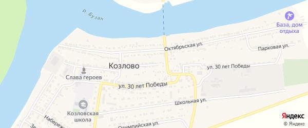 Парковая улица на карте села Козлово с номерами домов