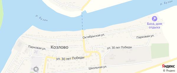 Октябрьская улица на карте Володарского поселка с номерами домов