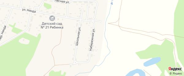 Набережная улица на карте поселка Урдома с номерами домов