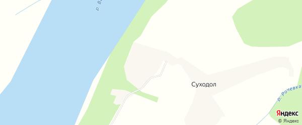 Карта деревни Суходола в Архангельской области с улицами и номерами домов