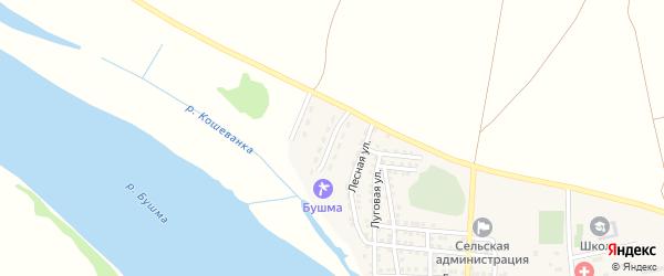 Молодежная улица на карте села Зеленга с номерами домов