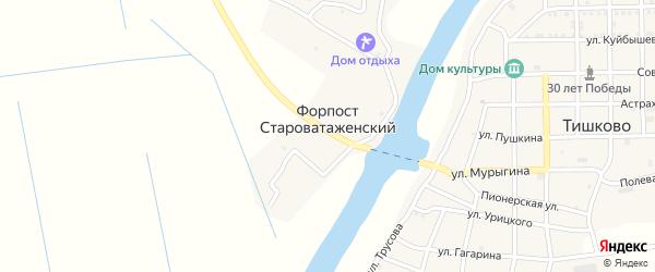Староватажная улица на карте села Форпоста Староватаженского с номерами домов