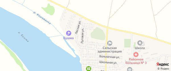 Луговая улица на карте села Зеленга с номерами домов