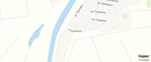Степная улица на карте села Тишково с номерами домов