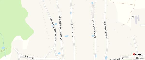 Улица Толстого на карте Октябрьского с номерами домов