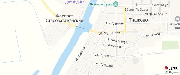 Улица Трусова на карте села Тишково с номерами домов
