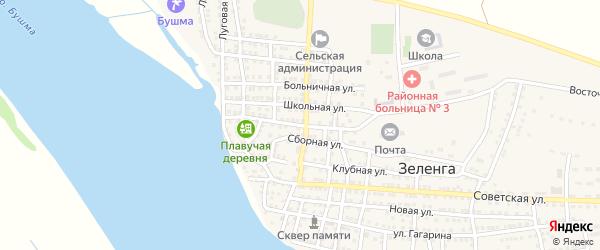 Подгорная улица на карте села Зеленга с номерами домов