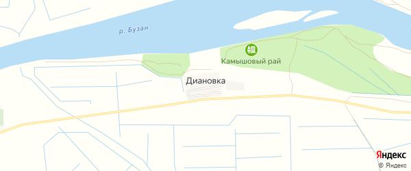 СТ Надежда на карте поселка Диановки с номерами домов