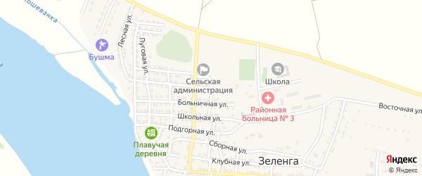 Садовая улица на карте села Зеленга с номерами домов