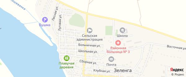 Садовая улица на карте села Кара-бирюка с номерами домов