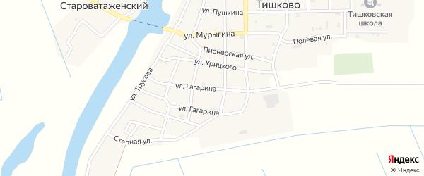 Улица Урицкого на карте села Тишково с номерами домов